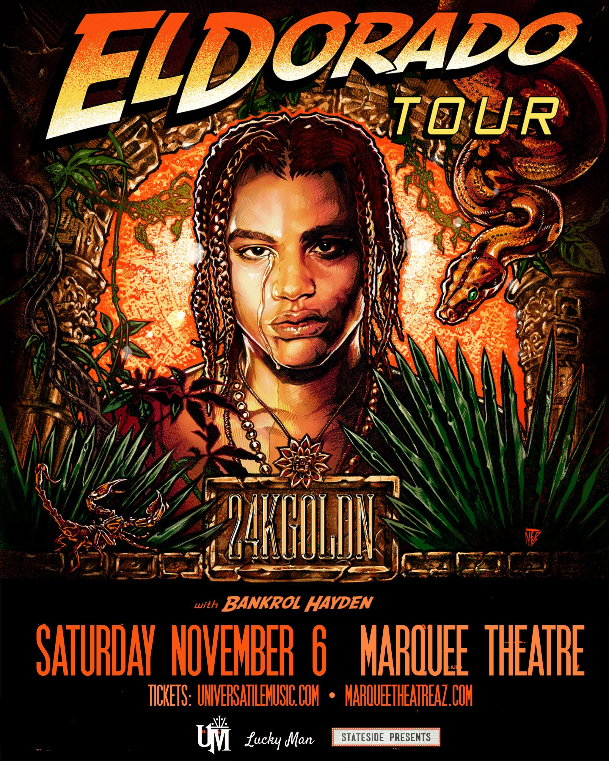 El DoradoTour Poster WITH SUPPORT